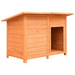 stradeXL Buda dla psa, drewno sosnowe i jodłowe, 120x77x86 cm