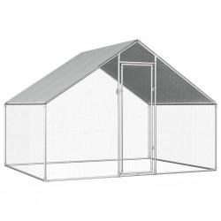 stradeXL Klatka zewnętrzna dla kurcząt, 2,75x2x1,92 m, stal galwanizowana