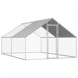 stradeXL Klatka zewnętrzna dla kurcząt, 2,75x4x1,92 m, stal galwanizowana