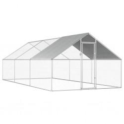 stradeXL Klatka zewnętrzna dla kurcząt, 2,75x6x1,92 m, stal galwanizowana