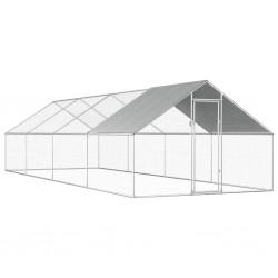 stradeXL Klatka zewnętrzna dla kurcząt, 2,75x8x1,92 m, stal galwanizowana
