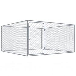stradeXL Kojec dla psa z galwanizowanej stali, 2 x 2 x 1 m