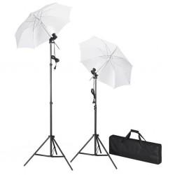 Zestaw oświetleniowy do studio ze statywami i parasolkami