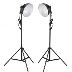 Lampy studyjne z kloszem odbijającym i statywem, 24 W
