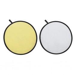 2 w 1, blenda, odblaskowy ekran 80 cm, złoty i srebrny