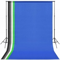 stradeXL Photo Studio Kit with 5 Coloured Backdrops and Adjustable Frame