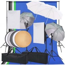 stradeXL Zestaw lamp studyjnych i akcesoriów