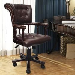 stradeXL Obrotowe krzesło biurowe, brązowe