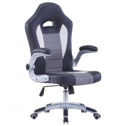 stradeXL Fotel dla gracza, czarny, sztuczna skóra
