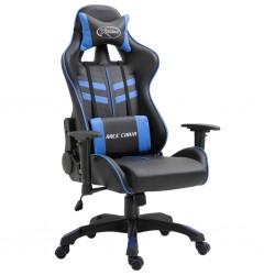 stradeXL Fotel dla gracza, niebieski, sztuczna skóra
