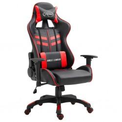 stradeXL Fotel dla gracza, czerwony, sztuczna skóra
