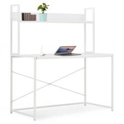 stradeXL Biurko komputerowe, białe, 120 x 60 x 138 cm
