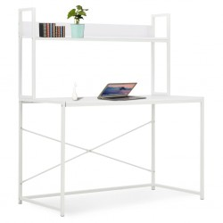 stradeXL Computer Desk White 120x60x138 cm