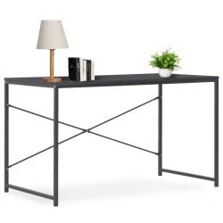 stradeXL Biurko komputerowe, czarne, 120 x 60 x 70 cm