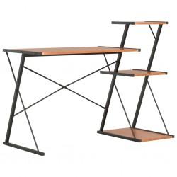 stradeXL Desk with Shelf Black and Brown 116x50x93 cm