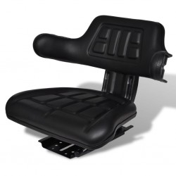 stradeXL Tractor Seat with Backrest Black