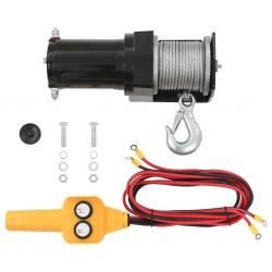 stradeXL 12 V Electric Winch 907 KG Wire Remote Control