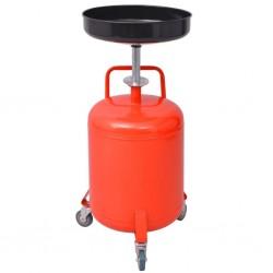 stradeXL Zlewarka do oleju 49,5 l metalowa, czerwona
