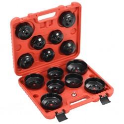 stradeXL 15-częściowy zestaw narzędzi do filtra oleju