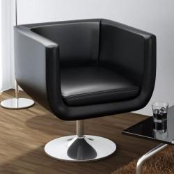 stradeXL Krzesło barowe, czarne, sztuczna skóra