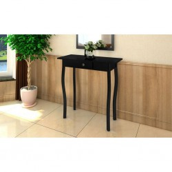 stradeXL Console Table MDF Black