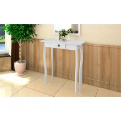 stradeXL Console Table MDF White