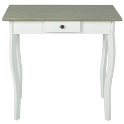stradeXL Console Table MDF White and Greyish Brown