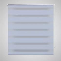 Roleta w pasy (60 x 120 cm) biała