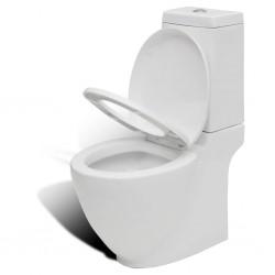stradeXL Toaleta ceramiczna, odpływ poziomy, biała