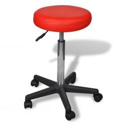 Stołek biurowy, czerwony