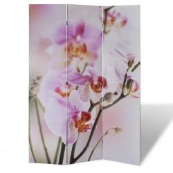 stradeXL Składany parawan, 120x170 cm, motyw kwiatowy