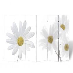 stradeXL Składany parawan, 240x170 cm, motyw kwiatowy