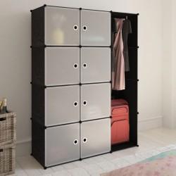 stradeXL Modular Cabinet 9 Compartments 37x115x150 cm Black and White