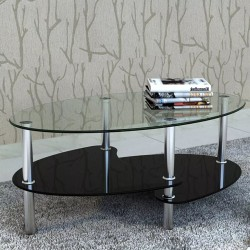 stradeXL Coffee Table with Exclusive Design Black