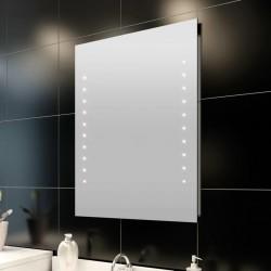 stradeXL Lustro ścienne, łazienkowe, z lampkami LED, 60 x 80 cm