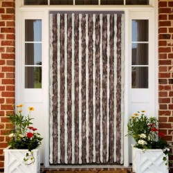 stradeXL Insect Curtain Beige and Light Brown 90x220 cm Chenille