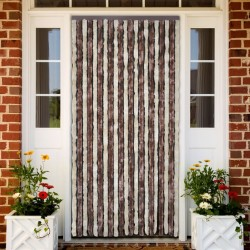 stradeXL Insect Curtain Beige and Light Brown 100x220 cm Chenille