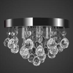 stradeXL Wisząca lampa sufitowa z kryształkami, chromowa