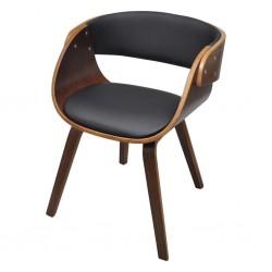 stradeXL Krzesło stołowe, gięte drewno i sztuczna skóra