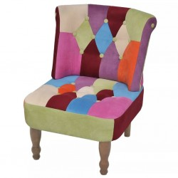 stradeXL Fotel francuski, patchworkowy, tkanina