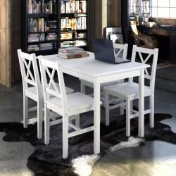 stradeXL 5 Piece Dining Set White