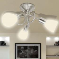 stradeXL Lampa sufitowa ze szklanymi kloszami na żarówki E14