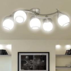 stradeXL Lampa sufitowa ze szklanymi kloszami na falistej rurce