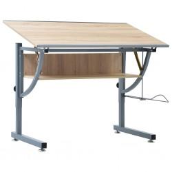 stradeXL Młodzieżowy stół kreślarski, dąb, 110x60x87 cm, MDF