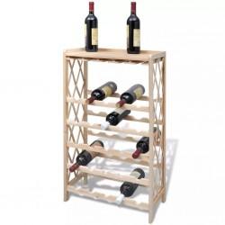 stradeXL Drewniany stojak na 25 butelek wina, lite drewno jodłowe