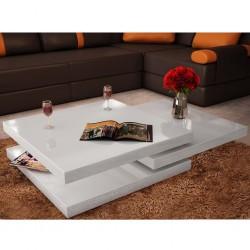 stradeXL 3-poziomowy stolik o wysokim połysku, biały