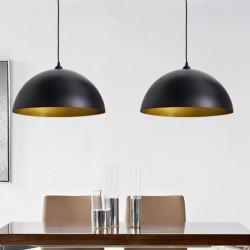 stradeXL Półokrągłe lampy sufitowe, 2 szt., regulowana długość, czarne