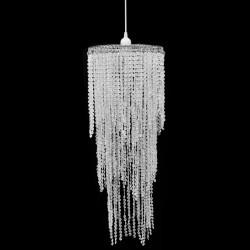 Kryształowa lampa wisząca z abażurem 26 x 70 cm