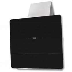 Okap kuchenny ze szkła hartowanego z wyświetlaczem 600 mm, czarny