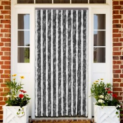 stradeXL Insect Curtain Grey and White 100x220 cm Chenille